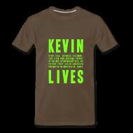 T-Shirts ~ Men's Premium T-Shirt ~ Kevin Lives (Design by Anna)