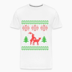 christmas reindeer make love knit T-Shirts