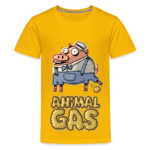 Kids Animal Gas Pig - Kids' Premium T-Shirt