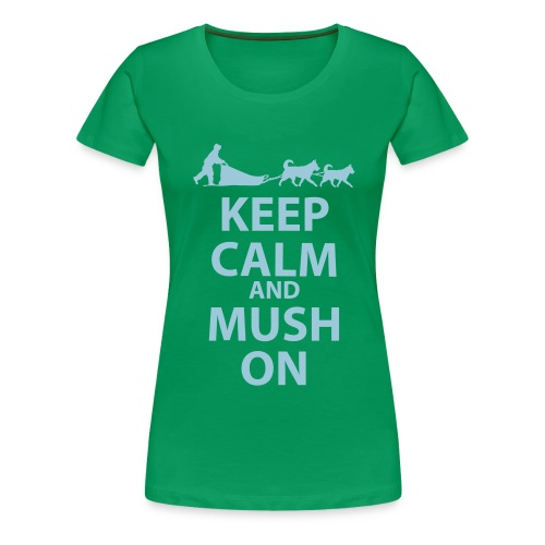 Keep Calm and MUSH on Women's Plus Size - Women's Premium T-Shirt