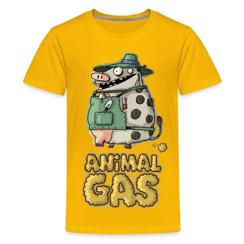 Kids' Premium T-Shirt - farts,cow,comic,character,cartoon,Animal Gas