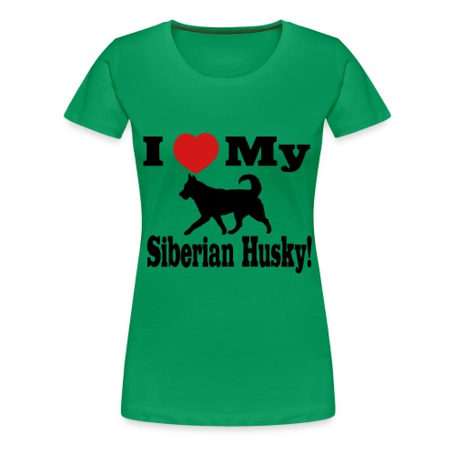 I Love my Siberian Husky - Women's Plus Size - Women's Premium T-Shirt