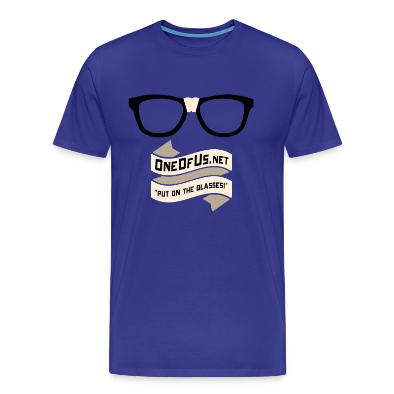One Of Us Put On The Glasses - Men's Premium T-Shirt