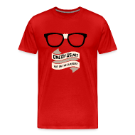 T-Shirts ~ Men's Premium T-Shirt ~ One Of Us Put On The Glasses