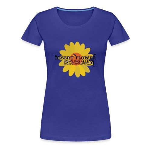Desert Flower Bowling Alley and Arcade Fun Complex - Women's Premium T-Shirt