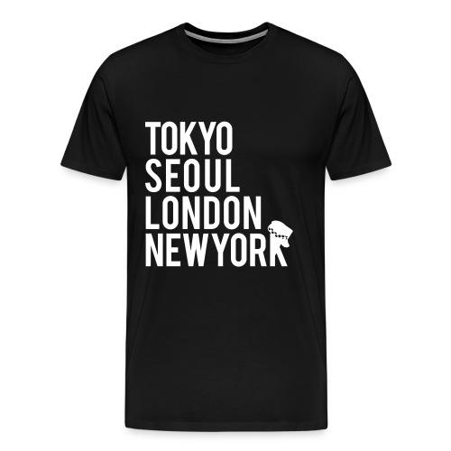 Girls' Generation - Mr. Taxi (White Flex Print) [Men's Shirt] - Men's Premium T-Shirt