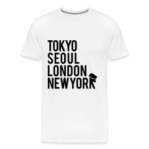 Girls' Generation - Mr. Taxi (Black Flex Print) [Men's Shirt] - Men's Premium T-Shirt