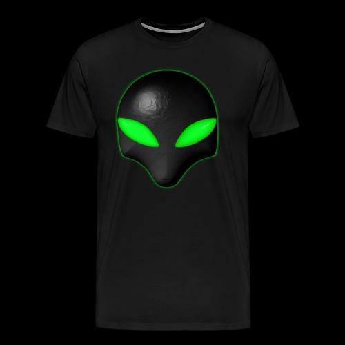Alien Bug Face Green Eyes - Men's Premium T-Shirt