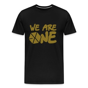 EXO - We Are One (Gold Flex Print) [Men's Shirt] - Men's Premium T-Shirt