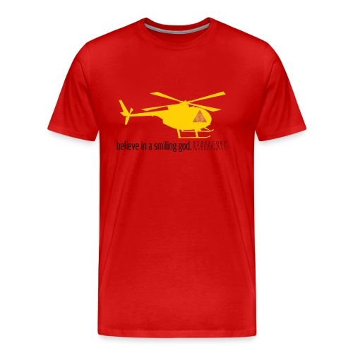 Yellow Helicopters Over the Desert - Men's Premium T-Shirt