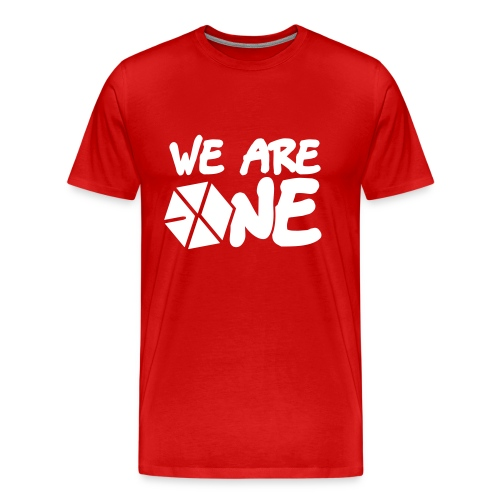 EXO - We Are One (White Flex Print) [Men's Shirt] - Men's Premium T-Shirt
