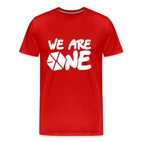 EXO - We Are One (White Flex Print) [Men's Shirt] - Men's Premium T-Shirt