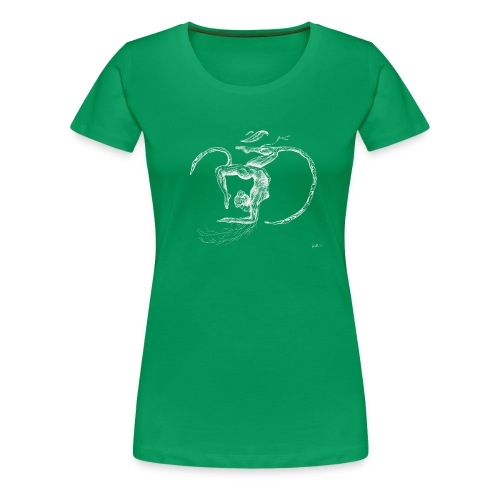 Yoga Tree Om Blessings White - Women's Premium T-Shirt