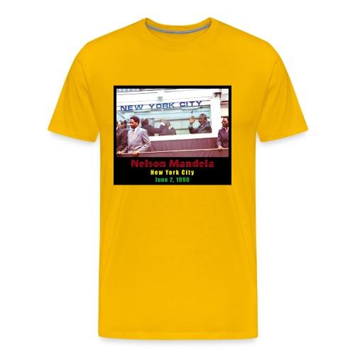 Nelson Mandela in New York City - Men's Premium T-Shirt