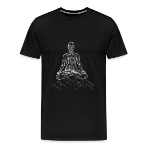 Men's Premium T-Shirt - Designs that inspire you while on the mat, and inspire you to get back to it! Each design embodies the essence of the pose. Meditate and breath as you practice groundation.