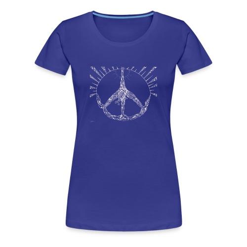 Yoga Tree Triangle of Peace White - Women's Premium T-Shirt