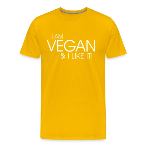 I am vegan and I like it  - Men's Premium T-Shirt