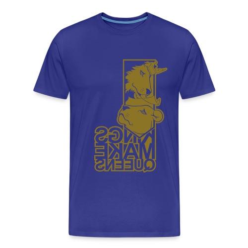 KQ-KMQ-Urban Gold Mirror - Men's Premium T-Shirt