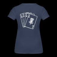 Women's T-Shirts ~ Women's Premium T-Shirt ~ Disc Golf Aces - Fitted Shirt - White Print on Back - Women's