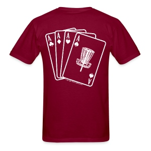 Disc Golf Aces - Heavy Weight - White Print on Back - Men's - Men's T-Shirt