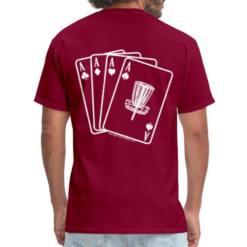 Disc Golf Aces - Heavy Weight - White Print on Back - Men's - Men's T-Shirt