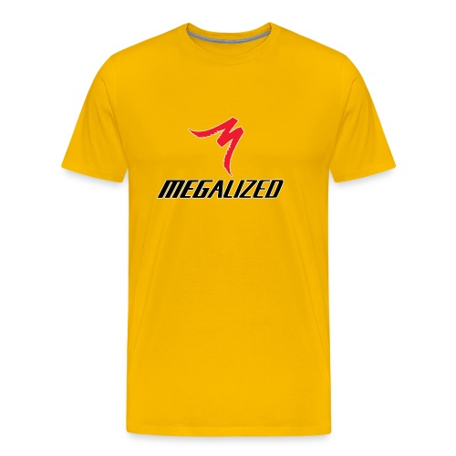 Megalized (yellow w/red M) - Men's Premium T-Shirt