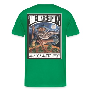 Amalgamation - White Logo (Big Sizes) - Men's Premium T-Shirt