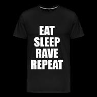 T-Shirts ~ Men's Premium T-Shirt ~ Eat Sleep Rave Repeat Heavyweight T Shirt