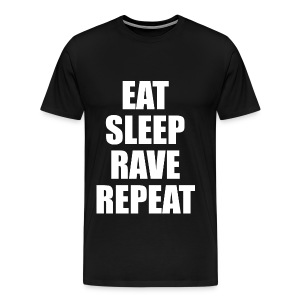Eat Sleep Rave Repeat Heavyweight T Shirt - Men's Premium T-Shirt