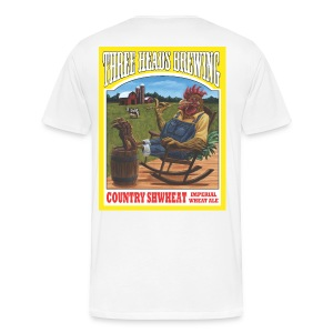 Country Shwheat - Black Logo (Big Sizes) - Men's Premium T-Shirt