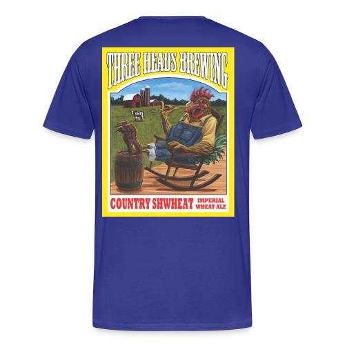 Country Shwheat - White Logo (Big Sizes) - Men's Premium T-Shirt