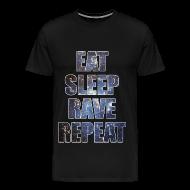 T-Shirts ~ Men's Premium T-Shirt ~ Eat Sleep Rave Repeat Stars Heavyweight T Shrit