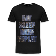 T-Shirts ~ Men's Premium T-Shirt ~ Eat Sleep Rave Repeat Stars Heavyweight T Shrit