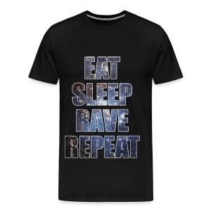 Eat Sleep Rave Repeat Stars Heavyweight T Shrit - Men's Premium T-Shirt