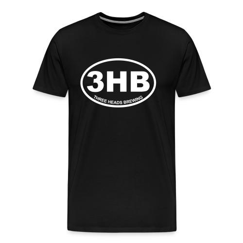3HB Logo - White (Big Sizes) - Men's Premium T-Shirt