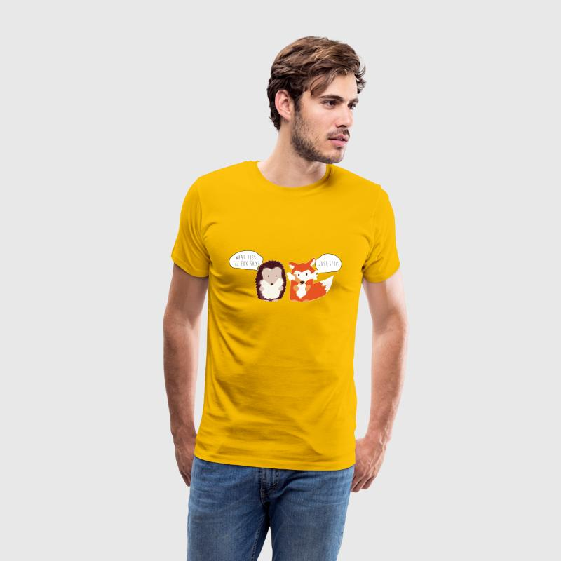 Fox Hedgehog Fox Say T-Shirts - Men's Premium T-Shirt