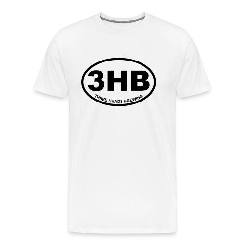 3HB Logo - Black (Big Sizes) - Men's Premium T-Shirt