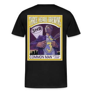 Common Man - White Logo (Big Sizes) - Men's Premium T-Shirt