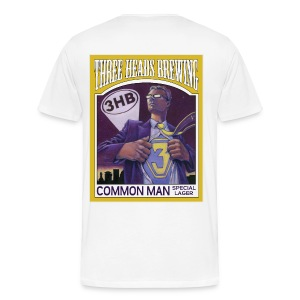 Common Man - Black Logo (Big Sizes) - Men's Premium T-Shirt