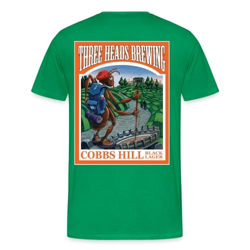 Cobbs Hill - White Logo (Big Sizes) - Men's Premium T-Shirt