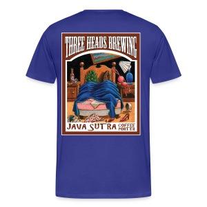 Java Sutra - White Logo (Big Sizes) - Men's Premium T-Shirt
