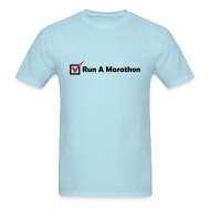 T-Shirts ~ Men's T-Shirt ~ MENS RUNNING T SHIRT - RUN MARATHON CHECK
