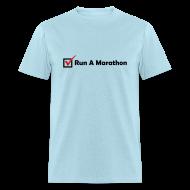 T-Shirts ~ Men's T-Shirt ~ MENS RUNNING T SHIRT - RUN MARATHON CHECK