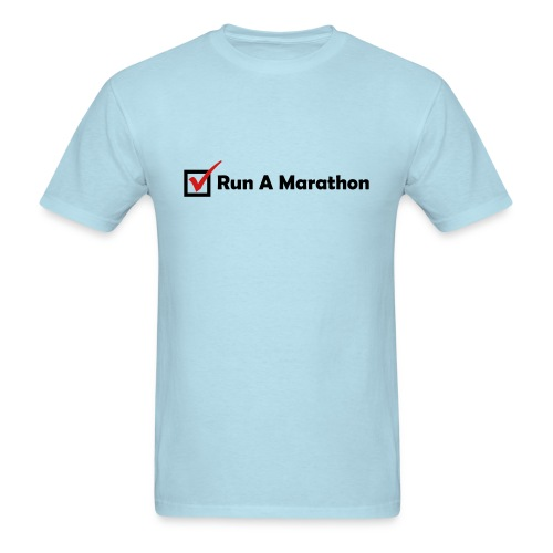 MENS RUNNING T SHIRT - RUN MARATHON CHECK - Men's T-Shirt