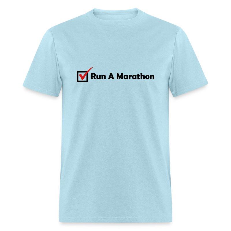 MENS RUNNING T SHIRT - RUN MARATHON CHECK - Men's T-Shirt