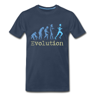 T-Shirts ~ Men's Premium T-Shirt ~ MENS RUNNING T SHIRT - EVOLUTION OF RUNNING