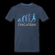 T-Shirts ~ Men's Premium T-Shirt ~ MENS RUNNING T SHIRT - EVOLUTION OF RUNNING