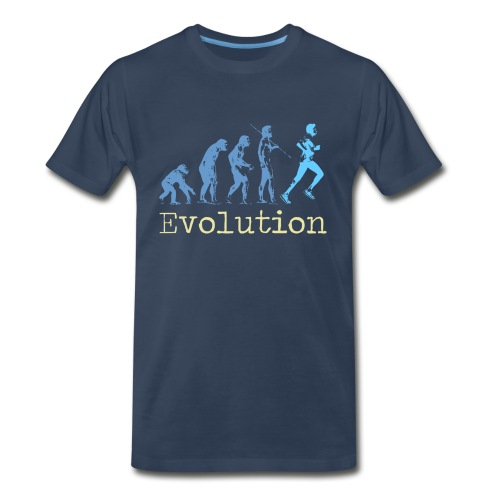 MENS RUNNING T SHIRT - EVOLUTION OF RUNNING - Men's Premium T-Shirt