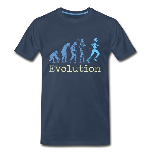 MENS RUNNING T SHIRT - EVOLUTION OF RUNNING - Men's Premium T-Shirt