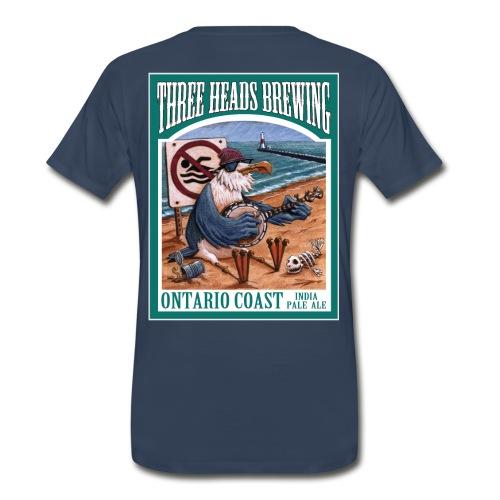 Ontario Coast - White Logo (Big Sizes) - Men's Premium T-Shirt